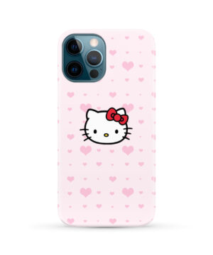 Cute Hello Kitty Pink Polka Dots for Beautiful iPhone 12 Pro Max Case