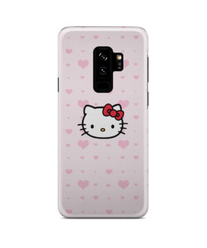 Cute Hello Kitty Pink Polka Dots for Beautiful Samsung Galaxy S9 Plus Case