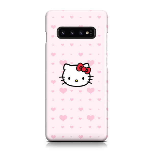 Cute Hello Kitty Pink Polka Dots for Best Samsung Galaxy S10 Plus Case Cover
