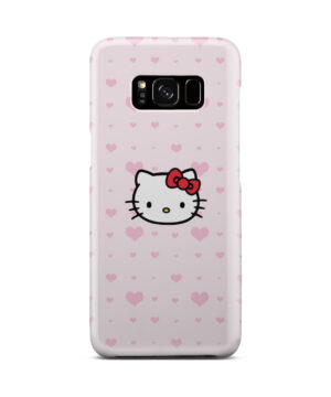 Cute Hello Kitty Pink Polka Dots for Best Samsung Galaxy S8 Case Cover