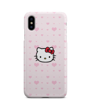 Cute Hello Kitty Pink Polka Dots for Cool iPhone XS Max Case
