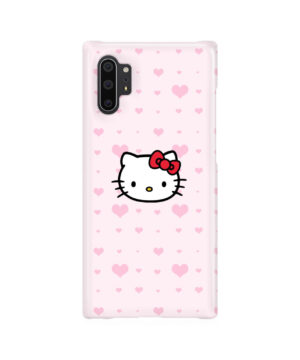 Cute Hello Kitty Pink Polka Dots for Cool Samsung Galaxy Note 10 Plus Case