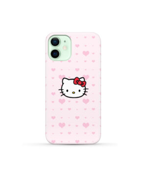 Cute Hello Kitty Pink Polka Dots for Customized iPhone 12 Mini Case Cover