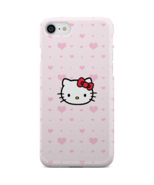 Cute Hello Kitty Pink Polka Dots for Cute iPhone 7 Case Cover