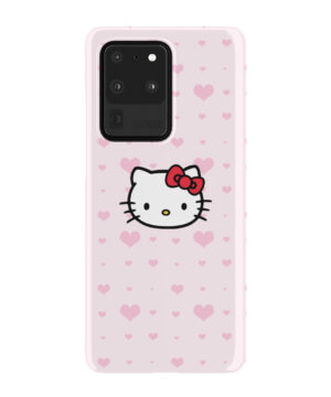 Cute Hello Kitty Pink Polka Dots for Cute Samsung Galaxy S20 Ultra Case Cover