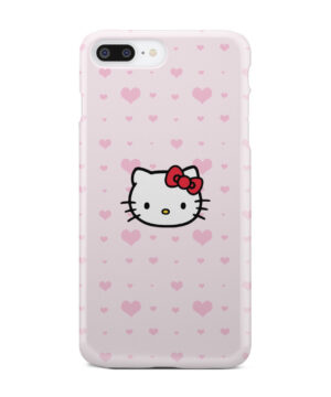 Cute Hello Kitty Pink Polka Dots for Newest iPhone 7 Plus Case