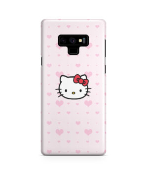 Cute Hello Kitty Pink Polka Dots for Nice Samsung Galaxy Note 9 Case