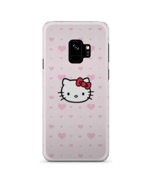 Cute Hello Kitty Pink Polka Dots for Nice Samsung Galaxy S9 Case
