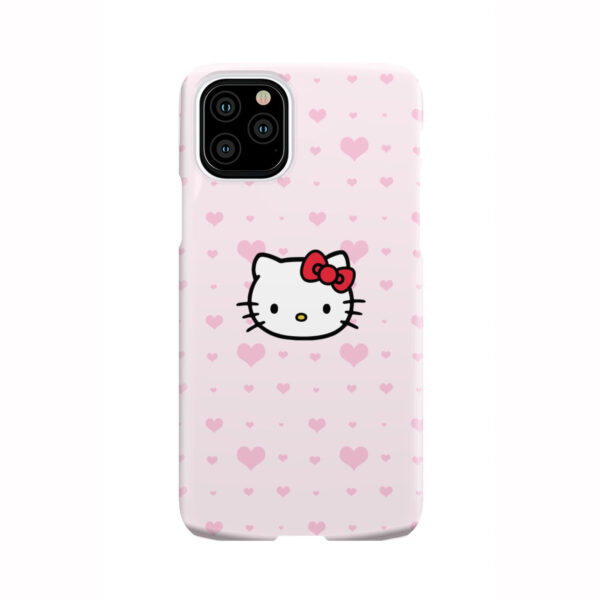 Cute Hello Kitty Pink Polka Dots for Personalised iPhone 11 Pro Case