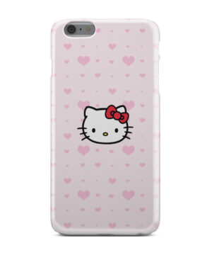 Cute Hello Kitty Pink Polka Dots for Personalised iPhone 6 Plus Case Cover