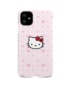 Cute Hello Kitty Pink Polka Dots for Trendy iPhone 11 Case Cover