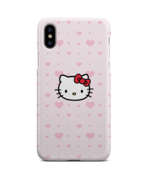 Cute Hello Kitty Pink Polka Dots for Trendy iPhone X / XS Case