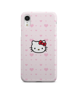 Cute Hello Kitty Pink Polka Dots for Trendy iPhone XR Case Cover