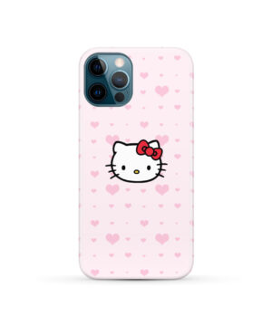 Cute Hello Kitty Pink Polka Dots for Unique iPhone 12 Pro Case