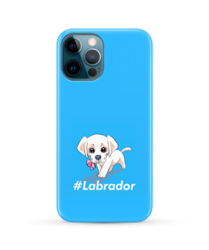 Cute Little White Puppy Labrador Retriever Dog for Nice iPhone 12 Pro Max Case