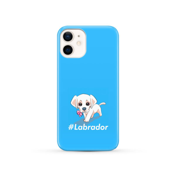 Cute Little White Puppy Labrador Retriever Dog for Stylish iPhone 12 Case