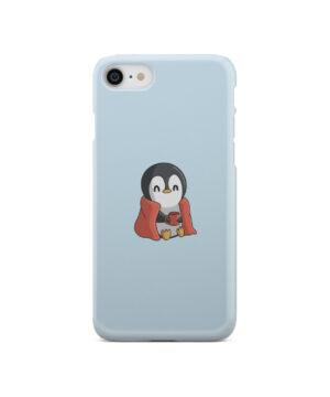 Cute Penguin Cartoon for Beautiful iPhone SE 2020 Case Cover