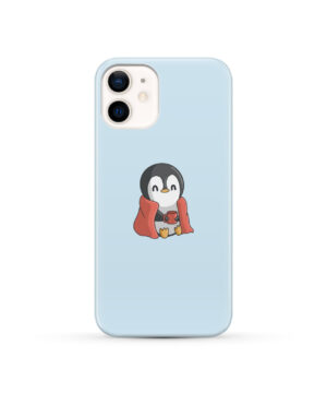Cute Penguin Cartoon for Cool iPhone 12 Case