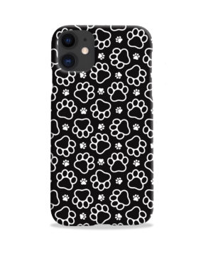 Dog Paw Footprint Pattern for Custom iPhone 11 Case