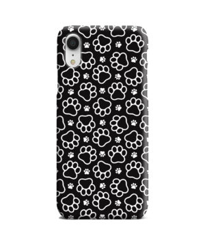 Dog Paw Footprint Pattern for Custom iPhone XR Case Cover