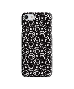 Dog Paw Footprint Pattern for Customized iPhone SE (2020) Case