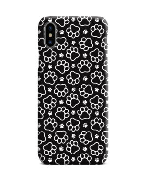Dog Paw Footprint Pattern for Nice iPhone XS Max Case