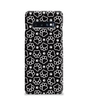 Dog Paw Footprint Pattern for Nice Samsung Galaxy S10 Plus Case Cover