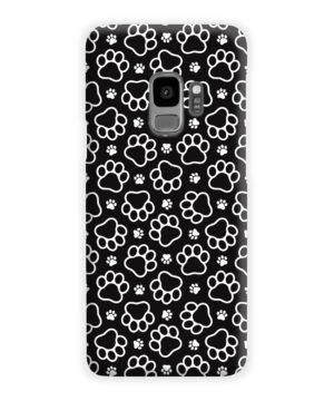 Dog Paw Footprint Pattern for Personalised Samsung Galaxy S9 Case