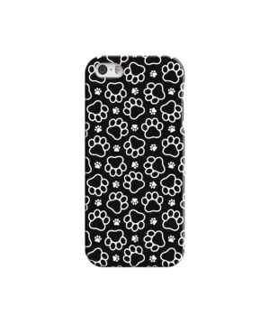 Dog Paw Footprint Pattern for Simple iPhone 5 Case