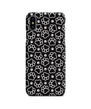 Dog Paw Footprint Pattern for Stylish iPhone X / XS Case