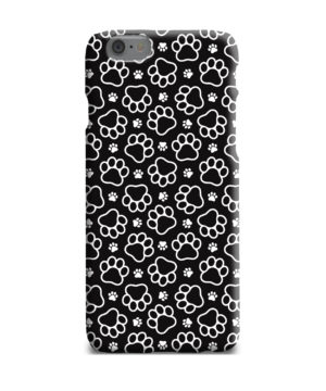 Dog Paw Footprint Pattern for Trendy iPhone 6 Plus Case Cover