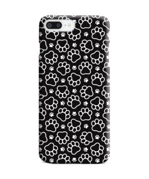 Dog Paw Footprint Pattern for Unique iPhone 8 Plus Case