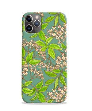 Elderflower Green Leaf for Trendy iPhone 11 Pro Case Cover