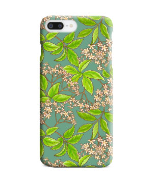 Elderflower Green Leaf for Trendy iPhone 7 Plus Case Cover