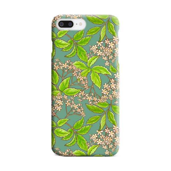 Elderflower Green Leaf for Trendy iPhone 7 Plus Case Cover