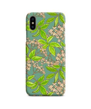 Elderflower Green Leaf for Unique iPhone X / XS Case