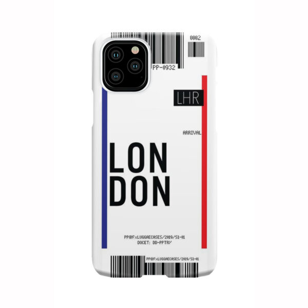 Flight Air Ticket London for Beautiful iPhone 11 Pro Case Cover