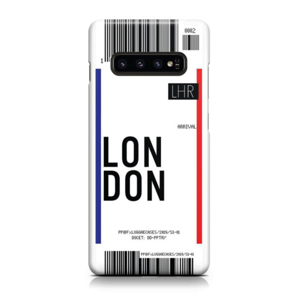 Flight Air Ticket London for Beautiful Samsung Galaxy S10 Case Cover