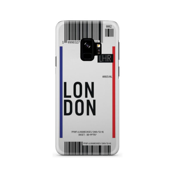 Flight Air Ticket London for Best Samsung Galaxy S9 Case Cover