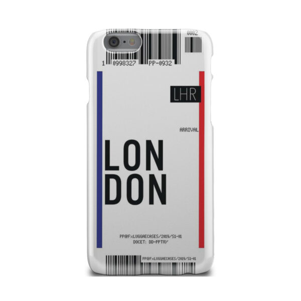 Flight Air Ticket London for Customized iPhone 6 Case