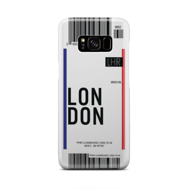 Flight Air Ticket London for Newest Samsung Galaxy S8 Case Cover
