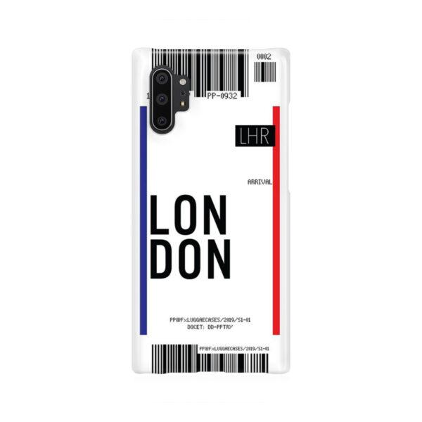 Flight Air Ticket London for Premium Samsung Galaxy Note 10 Plus Case