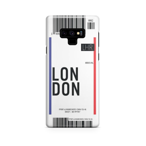 Flight Air Ticket London for Stylish Samsung Galaxy Note 9 Case