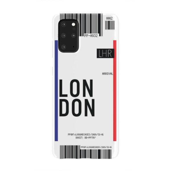 Flight Air Ticket London for Stylish Samsung Galaxy S20 Plus Case