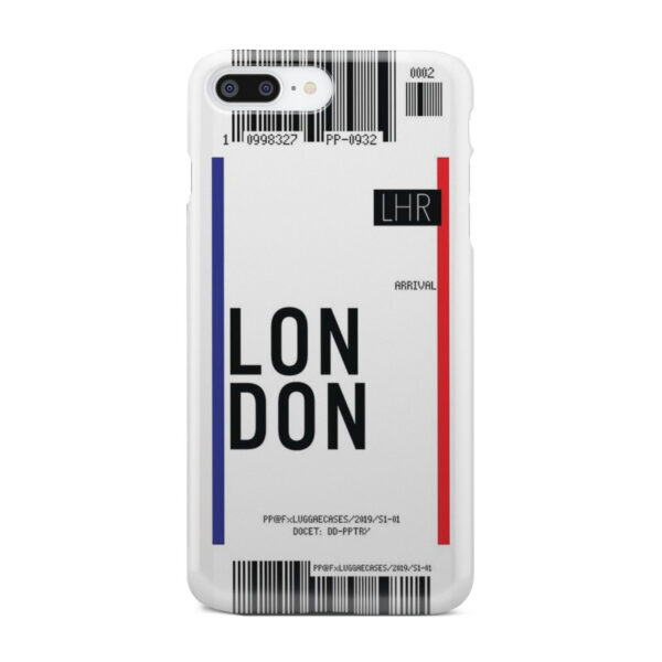 Flight Air Ticket London for Trendy iPhone 7 Plus Case Cover