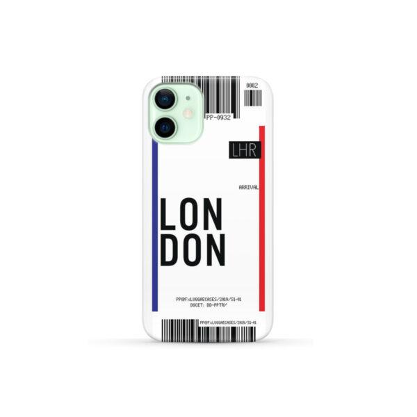 Flight Air Ticket London for Unique iPhone 12 Mini Case Cover