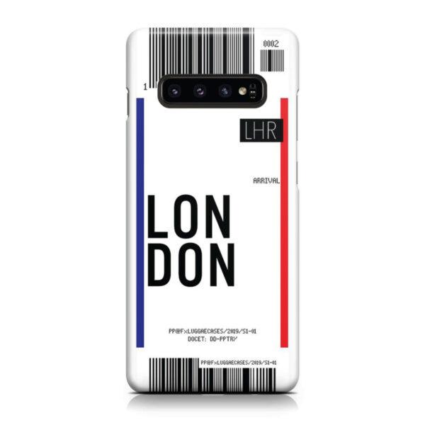 Flight Air Ticket London for Unique Samsung Galaxy S10 Plus Case
