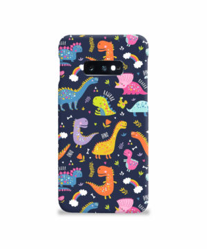 Funny Dinosaurs Cartton Kids for Beautiful Samsung Galaxy S10e Case