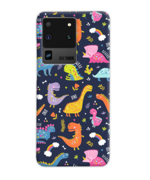 Funny Dinosaurs Cartton Kids for Beautiful Samsung Galaxy S20 Ultra Case