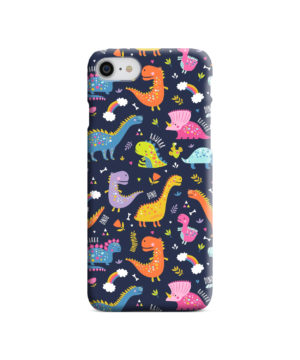 Funny Dinosaurs Cartton Kids for Best iPhone 7 Case